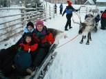 Christina and Seán with Killian Buckley on the last leg of their journey to meet Santa in Lapland last week.