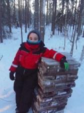 Seán Walsh exploring the surroundings of Santa's home village in Lapland last week.