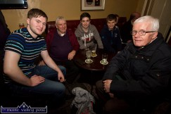 Settling in for a post Handed Down session at Lyons's Bar in Scartaglin on a recent Saturday night were: Bryan O'Leary, Jimmy Doyle, Jamie O'Donoghue, Kirill Healy and Billy Clifford. ©Photograph: John Reidy