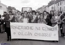 Members of the local Irish Countrywomen's Association taking part in the first St. Patrick's Day Parade in Castleisland. ©Photograph: John Reidy 17-3-1989