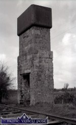 The old water tower beside the first bridge on the railway line. This is now a protected structure. ©Photograph: John Reidy 12-6-1982