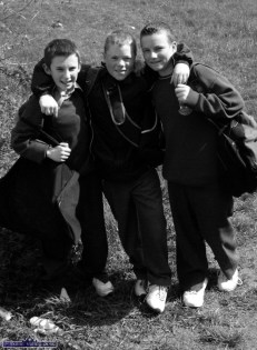 From College Through the Fields: Three Castleisland Community College pupils and friends, from left: Lorcan O'Connor, Andrew Daly and Denny Reidy pictured after another day at the grindstone. ©Photograph: John Reidy 4-5-2005