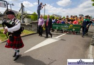 Direction set: Piper John Costello from Killorglin sets off on the Coiste Na nÓg 50th anniversary parade in Castleisland on Sunday. he is followed by Seán Kelly, MEP and Tom Keane, Kerry Coiste Na nÓg chairman and the leading banner bearers. ©Photograph: John Reidy