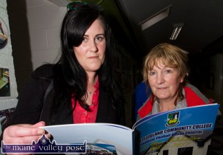 Samantha O'Sullivan and her mom Doris looking through the 30th anniversary booklet at the Castleisland Community College 30 year celebrations. ©Photograph: John Reidy
