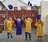 Jack O'Connor, Ayla Horgan, Paddy Burke and Connie Donegan celebrating their Bright Beginnings Graduation. Photograph: Liz Galwey