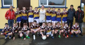 Cordal/Scartaglin U14s and their mentors in Cordal on Monday evening after winning the opening round of the East Kerry Region League.