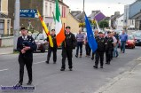 Piper, Noel O'Mahony leading the colour party through the town in the July 10th 1921 commemoration at the monument at Rice's Height on Saturday evening. ©Photograph: John Reidy