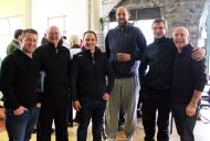 James O'Sullivan (left) pictured with: Aidan McGaley, Pat O'Sullivan, Chris Brosnan, John McGaley and Jimmy O'Sullivan at the Castleisland Camera Club Charity Exhibition and Sale of Work at The Market House on Saturday. Photograph: Castleisland Camera Club.