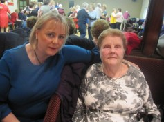 Mrs. O'Regan, Meenkilly and her daughter at the Abbeyfeale Community Alert Seniors Lunch at Fr. Casey's GAA Clubhouse.