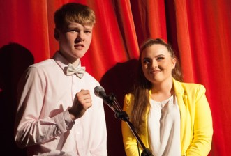 Joint comperes for the night were John Bell and Siofra O'Connor.