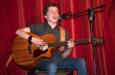 Micheál Nix, second year singing one of his own songs.