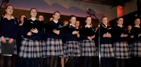 Members of the Presentation choir, from left: Aisling Teahan, Alannah O'Leary, Saoirse McKenna, Katie Cotter, Abbie Kelliher, Hanna Herlihy, Shauna Cronin and Joanna Moynihan.