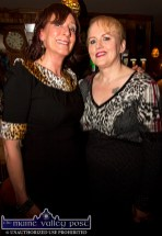 Catherine O'Brien, Ballymacelligott (left) and Michelle Hilliard, Tralee at the Sharon Shannon Concert at Ó Riada's Bar and Restaurant on Friday night. ©Photograph: John Reidy