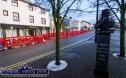 A week's work barring unforeseen circumstances. Castleisland's Lower Main Street cordoned off this morning as work was about to begin. ©Photograph: John Reidy
