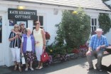 Billy O'Donnell and the ladies during their visit to Kate Kearney's Cottage on the outing.