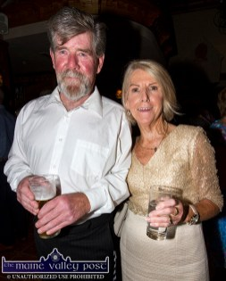 Larry Curtin and Nora Galvin pictured at the Mein National School Reunion at Ó Riada's Bar and Restaurant, Ballymacelligott. ©Photograph: John Reidy