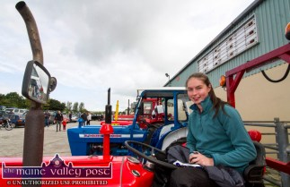 Rebekah Daly, Abbeyfeale had the honour of leading out the annual Paudie Fitzmaurice Memorial Charity Tractor Run in Castleisland. ©Photograph: John Reidy 9-9-2018
