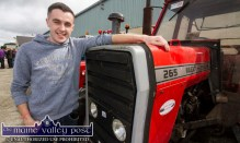 Rob Daly, Abbeyfeale pictured in Castleisland for the start of the annual Paudie Fitzmaurice Memorial Charity Tractor Run in Castleisland. ©Photograph: John Reidy 9-9-2018