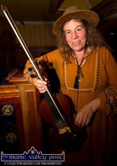 Kathy Cook from Ballydehob, Co. Cork pictured at the opening of the 26th annual Patrick O'Keeffe Traditional Music Festival at the River Island Hotel on Friday night. ©Photograph: John Reidy