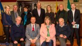 Moderators, organisers and panelists of the Rural Revival Conference at the River Island Hotel in Castleisland on Saturday night. Seated: Joe Sheeran, Kiltylive, Co. Leitrim; Cllr. Damien Quigg, Maura Walsh, Chief Executive of Duhallow IRD and Donie Shine, Chairman of the Irish Family Farm Rights Group. Back row: Cllr. Toiréasa Ferris, Seamus Sherlock, Chairman of the Irish Cattle and Sheep Farmers' Association; Irene Kavanagh, Kerry Social Farming Facilitator; Tomas Hayes, Kerry Local Enterprise Office; Kate McSweeney, Castleisland Local Election Area Candidate; John Reidy,The Maine Valley Post and Michael John Kearney, incoming Castleisland Chamber Alliance chairman. ©Photograph: John Reidy / The Maine Valley Post 24-11-2018
