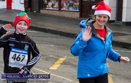 Born to Run members Ryan Wyles and him mom, Breda from Castlegregory taking part in the Run Rudolph Run 5K Road Race in Castleisland on Sunday. ©Photograph: John Reidy