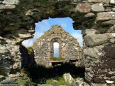 The 14th century old ruins of St. Colman's church and cemetery on Inishbofin, Photograph: John Reidy 7-6-2003