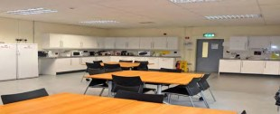 A fully equipped canteen adds to the community feel at Island Point.