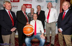St. Mary's Basketball Club office holders over the years pictured at Friday night's launch of the club's 50th Christmas Blitz at the River Island Hotel Castleisland. Inclured are: Maurice Casey (seated) with from left: Ned O'Callaghan, Tom Kenny, Liz O'Connor, Eamon Egan, Dan Lyons and Blitz founder, Donal 'Duke' O'Connor. ©Photograph: John Reidy