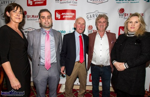 At Friday night's launch of St. Mary's Basketball Club 50th Blitz at the River Island Hotel Castleisland were, from left: Liz Galwey, PRO; Seamus O'Connor, manager,Garvey's SuperValu, Castleisland; Blitz founder, Donal 'Duke' O'Connor, Den Joe and Angela O'Connor. ©Photograph: John Reidy
