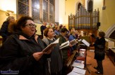 Mary Walsh at the helm of the Castleisland Parish Choir at the first Padre Pio, Tuesday night novena at the Church of Saints Stephen and John. ©Photograph: John Reidy