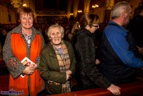 Breda O'Connor and Mary Brosnan joining the queue for the blessing with the Padre Pio healing glove at the first Padre Pio, Tuesday night novena at the Church of Saints Stephen and John, Castleisland. ©Photograph: John Reidy