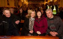 Donal Murphy, Knocknagoshel (left) Angela Devine, Dublin; Betty Gaire, Duagh and Paddy Corridan, Brosna at the first Padre Pio, Tuesday night novena at the Church of Saints Stephen and John. ©Photograph: John Reidy