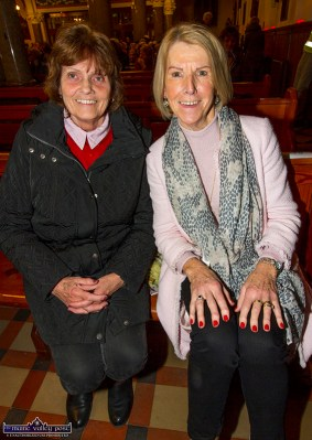 Florence Ahern, Ballymacelligott (left) and Nora Galvin, Castleisland at the first Padre Pio, Tuesday night novena at the Church of Saints Stephen and John. ©Photograph: John Reidy