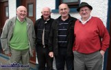 Home-grown Celebrities waiting for the mystery Bainisteóir at Desmonds GAA Club on Saturday. Jimmy Greaney (left) is pictured with: Aidan McGaley, Seán McCarthy and Seán Brennan. ©Photograph: John Reidy 10-7-2010