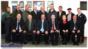 Castleisland Desmonds GAA Club 2010 Committee pictured at the clubhouse. Seated from left: Seán McCarthy, PRO.; Jimmy Greaney, vice chairman; Colm Kirwan, secretary; Michael John Kearney, chairman; Aileen Lynch, ladies club secretary; Pat Hartnett, coaching officer. Back row from left: Martin Murphy, vice chairman; Hugh O'Connell, ladies club mentor; Martin Downey, development officer; Tommy Hickey, minor team mentor; Con Horan, co. and district board delegate; Denny Lyons, insurance officer; Tomás Ó Conchúir, ladies club vice chairman; Dan Lynch, Coiste Na nÓg treasurer; Francie Brosnan, Coiste Na nÓg chairman. ©Photograph: John Reidy 13-10-2010