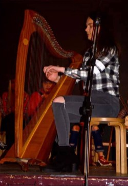 One of the team of accomplished musician, Eibhlís Brosnan performing at the Presentation / St. Patrick's joint, annual talent show. Photograph: Katie O'Reilly.