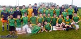 Another medal: David Shanahan (front left) St. Patrick's Boys' Secondary School Gaelic Football team which captured the Munster Colleges U-15 title and the Corn Éamainn Uí Mháirtín when they defeated St John The Baptist Community School, Hospital, Co. Limerick in Rathkeale just before Christmas 2014. Front from left: David Shanahan and Eddie Horan. Middle row from left: Jack Brosnan-Reidy, Danny Hickey, Adam Fallon, Stephen Murphy, Shay Walsh, captain; Michael Prendiville, Darren Maunsell, Ethan Reidy, Adam Manley, Donncha Daly and Sean Horan. Back from left: Egan Brosnan, Daniel Kelly, Padraig O'Connor, Lorcan Hickey, Cathal O'Donoghue, Dylan O'Donoghue, Conor Mitchell, Moss O'Callaghan, Padraig Browne, Dylan Browne, Denis O'Mahony, Darragh O'Connor, Aaron O'Connor and Sean Brosnan. 17-12-2014