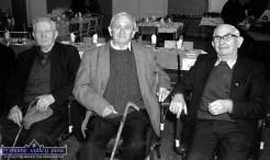 At the regular Wednesday Over 55 Social Club gathering hosted by Knocknagoshel Women's Group at the local community centre in 1998 were, from left: Tim O'Donoghue, Knocknagoshel; Neilie Horan, Castleisland and Danny Joyce, Lyreacrompane. ©Photograph: John Reidy 25-3-1998