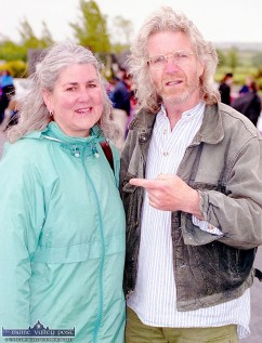 Evelyn and Richard Gallagher at the official opening of An Ríocht AC track in June 2000. ©Photograph: John Reidy 11-6-2000