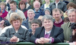 Faces in the crowd waiting for the events of the day to get under way the official opening of the club facilities on June 11-2000. ©Photograph: John Reidy