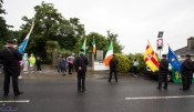 The colour party takes up its position at the start of the Castleisland Sinn Féin Cumann 1921 Ambush Centerary Commemoration at the monument on Saturday evening. ©Photograph: John Reidy