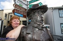 Mary Murphy, Milltown pictured with the Wild Colonial Boy himself at the revived Castleisland Fair on Sunday. ©Photograph: John Reidy