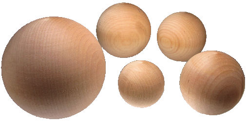 wood balls for crafts