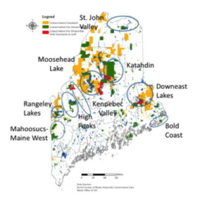 High Potential Rural Destination Areas in the Maine Woods