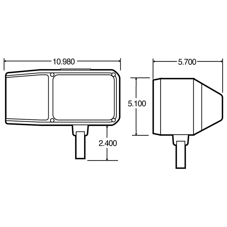 truck lite 80888 wiring diagram 2017 ford ranger radio new 80888p snow plow universal myers boss light