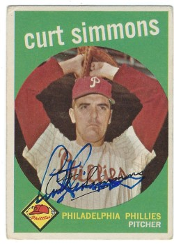 Autographed 1959 Topps Cards