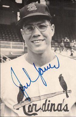 Autographed B&W Postcards St. Louis Cardinals