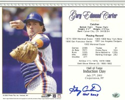 Autographed Hall of Fame Induction Day Cards