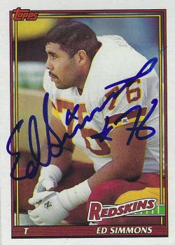 Autographed 1991 Topps Football Cards