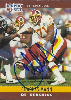 Autographed 1990 Pro Set Football Cards